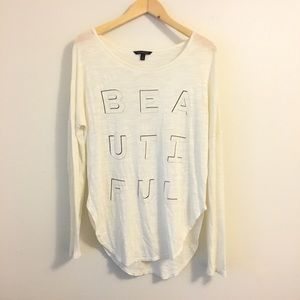 Banana Republic Beautiful Graphic Dolman Tee